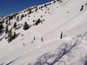 ski de randonnée avec des guides de haute montagne proche de grenbole, chartreuse, vercors, belledonne, ecrins