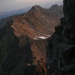 la montée au Grand Pic de Belledonne par l'arête nord