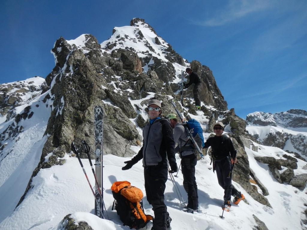 raid à ski dans le Mercantour
