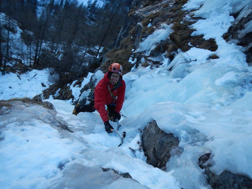 stage cascade de glace à la Grave