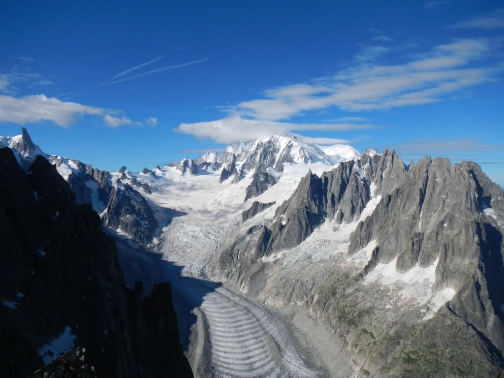 le bassin de la mer de glace depuis La Nonne