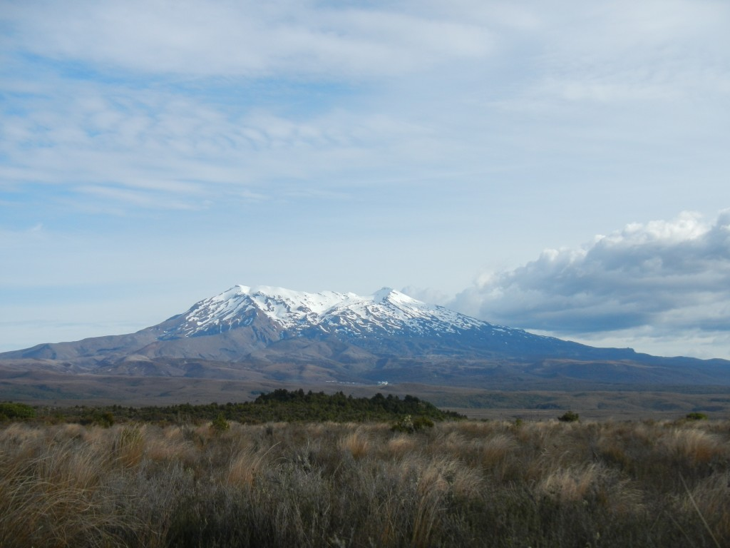 Mt Ruapehu view from north mid december